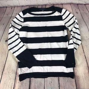 Tommy Hilfiger Women's  Striped Long Sleeve Top